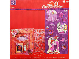 K&Company Red Hat Society Scrap Kit, 12x12 Inches