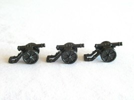 3x Risk 40th Anniversary Edition Board Game Metal Cannon Piece Black Army Lot - $9.99