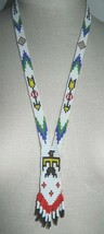 VTG Southwestern Tribal Multi-Color Beaded Thunderbird Arrow Neck Tie Necklace - $74.25