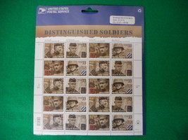 Distinguished Soldiers Mint Stamp Sheet NH VF Original Package - $7.08