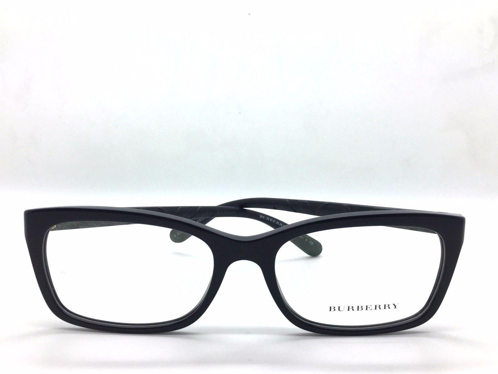 476b98f4cbd ... Burberry Black Rectangle BE b 2220 3001 Eyeglasses with 54mm Lens ...