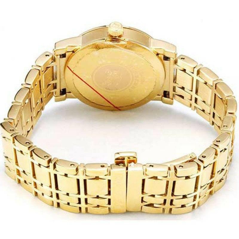 NEW Burberry Watch Women's Swiss Goldtone Stainless Steel Bracelet 28mm BU1394 image 2