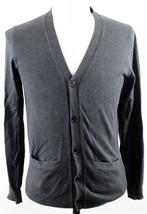 MINT J.Crew Cotton-Cashmere V-Neck Cardigan Sweater MENS SMALL Gray 29114 - $32.99
