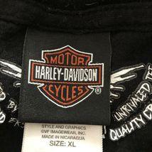 Harley Davidson T Shirt Skeleton Clown Size XL Sturgis MI Black Motorcycle image 10