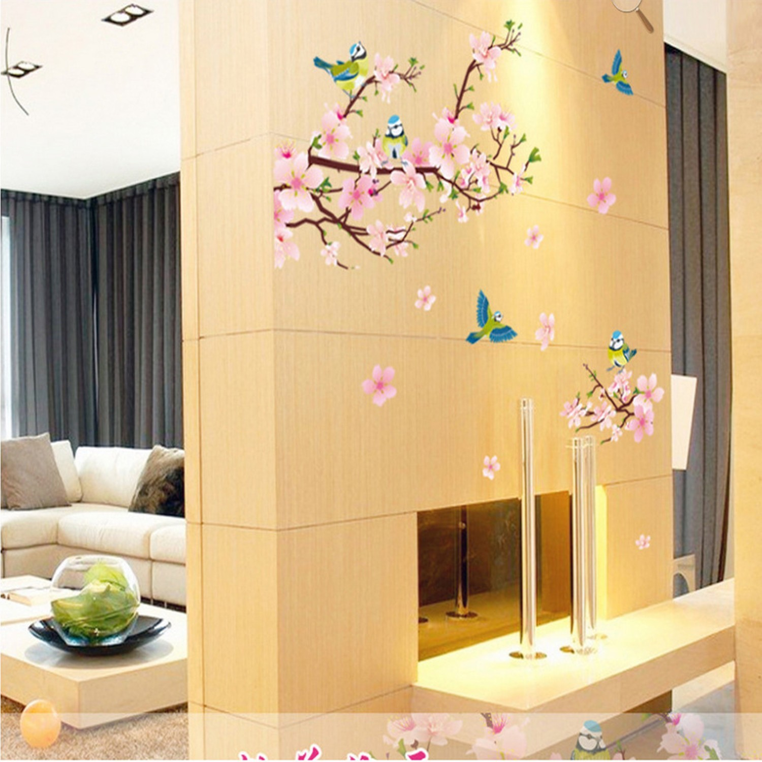 Removable Peach Blossom Flowers Wall and 50 similar items