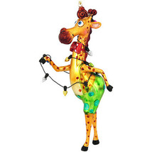 Giraffe w/Lights Glass Ornament - $21.95