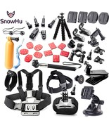 Gopro Hero Accessories Set Camera Kit Chest Head MountStrap Monopod Pole... - $44.78