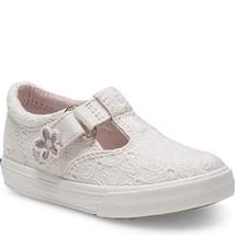 Keds Girls' Daphne Sneaker, White Eyelet, 100 Medium US Toddler - $27.21