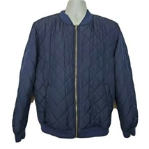 Gap Quilted Bomber Jacket Men's Size L Navy Blue - $54.44