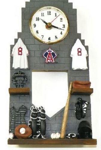 Los Angeles Angels Pendulum Clock Baseball Locker Design MLB Licensed NEW