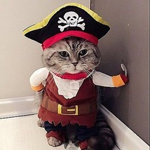 Idepet Funny Pet Clothes Pirate Dog Cat Costume Suit Corsair Dressing up... - $18.24