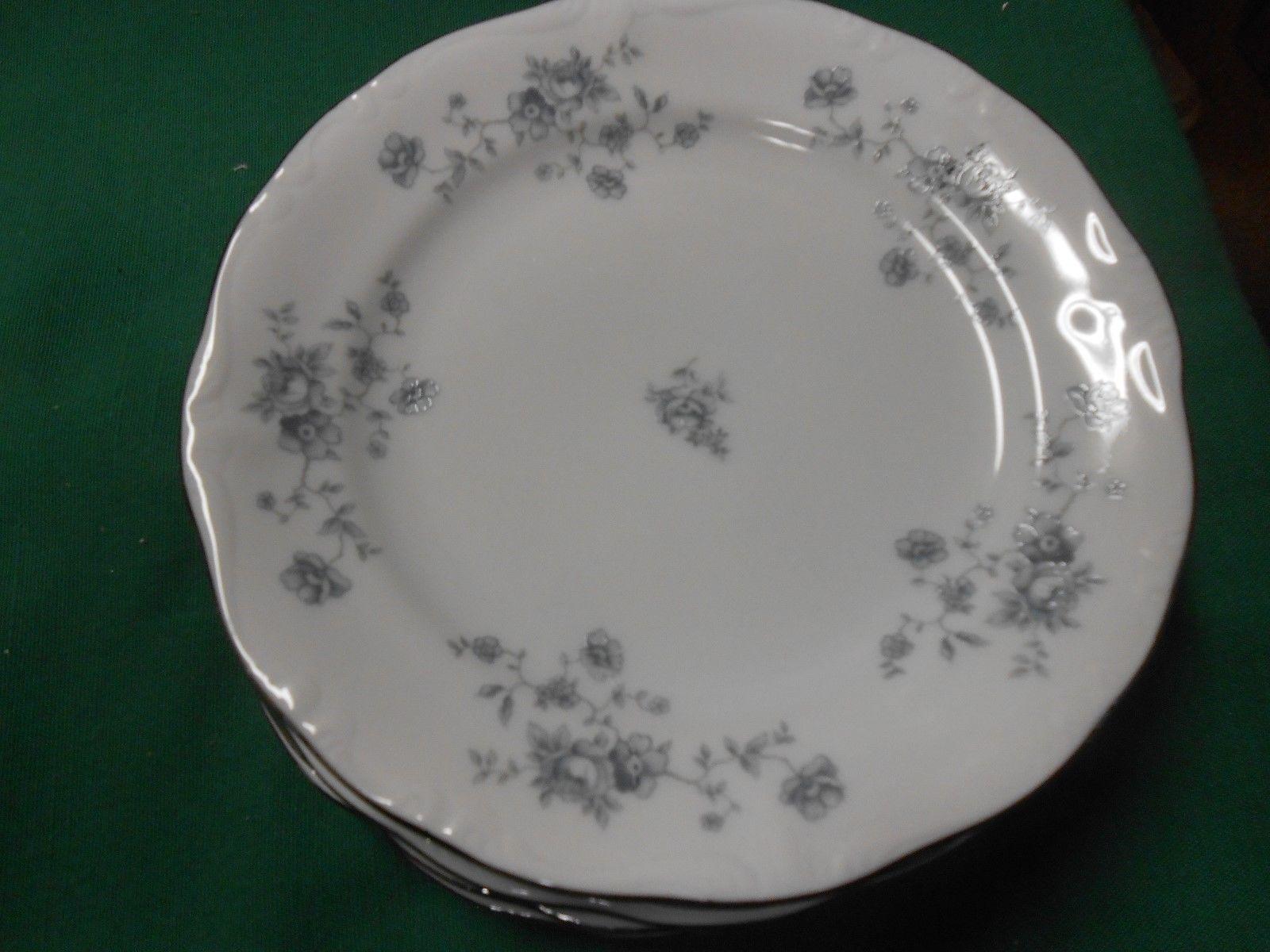 Beautiful Collectible JOHANN HAVILAND Bavaria BLUE GARLAND-Set of 5 BREAD Plates