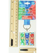 PJ MASKS MULTI-CHARACTER - DISNEY TV JUNIOR LUCITE FOIL KEYCHAIN NEW 2014 - $3.88