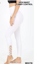 Zenana Outfitters S-M  Super Stretch Lattice Hem Tummy Control Long Leg... - $10.88