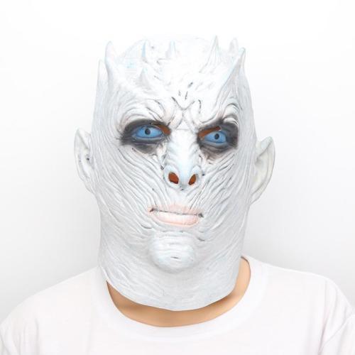 Costume Adult Mask Men's Game of Thrones Night's King White Walker Full Head...
