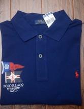 Polo Ralph Lauren Men's R.L. & CO Navy Mesh Cotton Polo Shirt New Big & Tall LT - $44.54