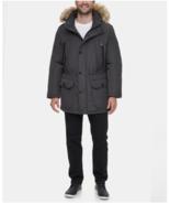 Calvin Klein Men Grey Water Resistant Zip Hood Fur Parka Snorkel Jacket ... - $129.99