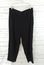 womens black TALBOTS casual dress pants slacks stretch PLUS 18W Velvet Lined - $18.00