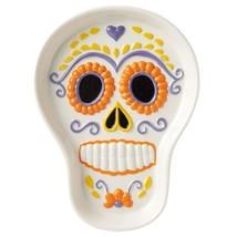 Day of the Dead Candy Sugar Skull Treat Dish Hallmark Halloween Home Decor - £21.19 GBP
