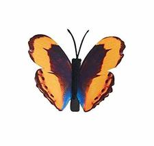 Set of 3 Butterfly Hair Pin Fashion Hair Clip Hairpin,3.15'',Orange/Yellow