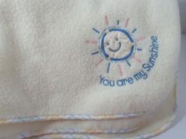 Just Born yellow fleece You are my Sunshine Gingham Sun Baby Blanket vin... - $19.79