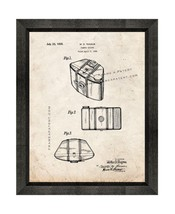 Camera Casing Patent Print Old Look with Beveled Wood Frame - $24.95+