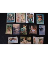 BB04 Lot of 12 Adorable VINTAGE FARIES ANGLES GREETING DIE CUTS 4 crafts... - $4.35+