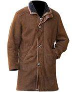 Walt Longmire Robert Sheriff Taylor Vintage Brown suede Leather Trench Coat - $118.75+