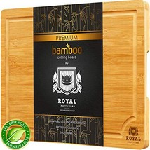 Small Bamboo Cutting Board for Kitchen with Handles and Juice Groove - B... - $28.81
