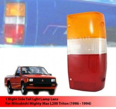Rh Rear Tail Light Lens Lenses For Mitsubishi Mighty Max L200 Triton 1986 - 1994 - $12.97