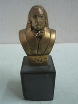 Bronze and stone Statue Figurine small bust Liszt pianist signed Barbeitos - $24.20