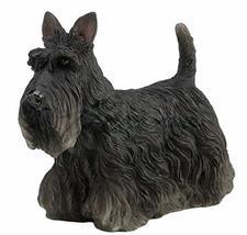 3 Inches Black Scottish Terrier Statue Dog Figure Figurine Home Decor - $17.00