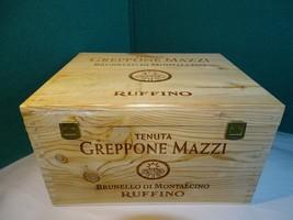 Greppone Mazzi Ruffino Empty Wine Bottle Case Crate Holds 6 Bottles - $39.59