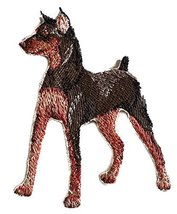 Amazing Custom Dog Portraits [Miniature pinscher] Embroidery Iron On/Sew... - €8,51 EUR