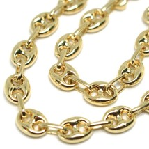 18K YELLOW GOLD SOLID MARINER BRACELET BIG 6 MM, 8.3 INCHES, ANCHOR ROUNDED LINK image 2