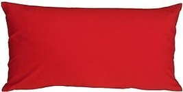 Pillow Decor - Caravan Cotton Red 9x18 Throw Pillow  - SKU: SE1-0001-01-79 - £11.45 GBP