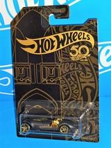 Hot Wheels 2018 50th Anniversary Black & Gold Series #2 Twin MIll - $6.00