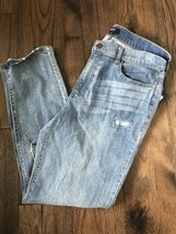 New $89 DKNY Women's Studded Skinny Jeans Light Wash Distressed Patches ... - $38.57