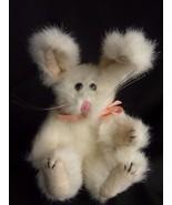 "Boyds Bear  Bunny Rabbit White Plush  Animal 6"" tall 1990-1995"" Retired - $8.77"