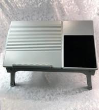 Lap Desk Table Tray Laptop Holder Stand Monitor Riser/w Read Light & 4 U... - $22.24