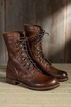 Handmade Men's Brown Military Boots, Men Combat Boots image 1