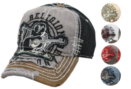 True Religion Men's Premium Vintage Distressed Buddha Trucker Hat Cap TR1101 image 1