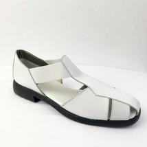 Aerosoles White Leather Huarache Sandals Shoes Sz 9.5 - $26.17