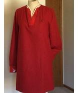 Mujer Vestido, Rojo, Talla USA 8 ,( 42 ), Moschino, Manga Larga - $134.17