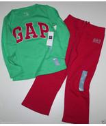 baby Gap NWT Girl's 3T 4T Set Green Arch Logo Top + Pink Sweat Pants - $27.58