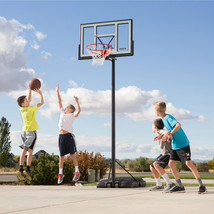 "Adjustable Portable Kids Basketball Hoop System 46"" Polycarbonate Shatte... - $211.88"