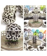 Spiky Ball Round Circle Bead Interchangeable Spacer for European Charm B... - $4.50+