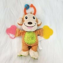 "8"" Munchkin Teether Babies Monkey Plush Lovey Rattle Baby Stuffed Toy B65 - $14.97"