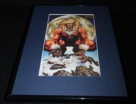 Sabretooth X Men Marvel Masterpiece ORIGINAL 1992 Framed 11x14 Poster Di... - $32.36
