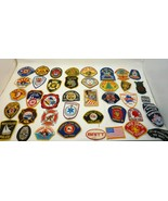 Huge Lot of 47 First Responder Patches Law Enforcement and Fire Department  - $142.40